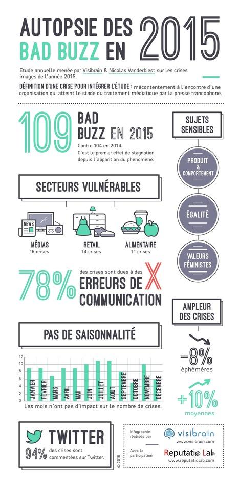Analyse des Bad Buzz de l'année par Nicolas Vanderbiest pour Visibrain | Le Marketing Digital par François Scheid | Scoop.it