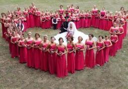 Dance teacher bride goes big with 80 bridesmaids in England | Kickin' Kickers | Scoop.it