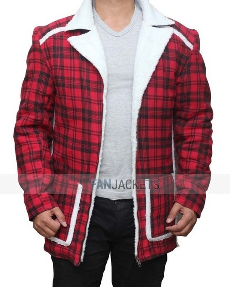 Deadpool Shearling Detailed Red Jacket | Mens Celebrity Fashion Jackets, Coat and Suits | Scoop.it