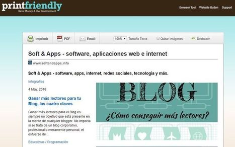 Print Friendly: genera la versión imprimible o descarga en PDF cualquier web│@softapps | Contar con TIC | Scoop.it