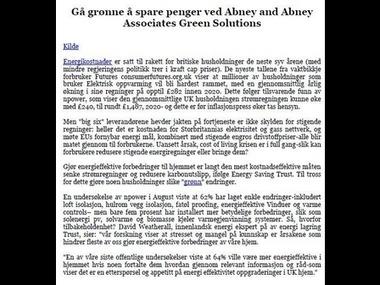 Gå grønne å spare penger ved Abney and Abney Associates Green Solutions | Abney and Abney Associates Green Solutions | Scoop.it