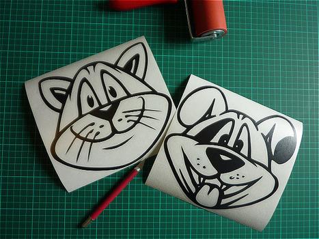 Fun : Des stickers chiens et chats originaux | Stickerzlab, des astuces et des idées déco pour tous | décoration & déco | Scoop.it