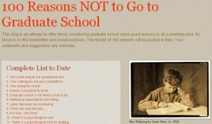 """100 Reasons NOT to Go to Graduate School - """"I Have a PhD. Now What?"""" 