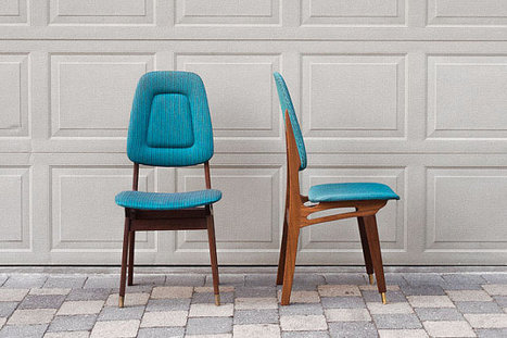 Set of Six Vintage Mid Century Dining Chairs | Interior Life | Scoop.it