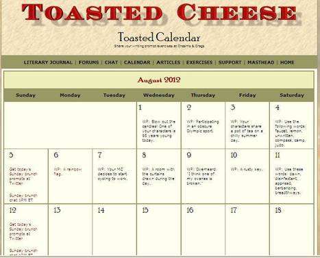 Toasted Cheese - Writing Prompt Calendar | 5th Grade | Scoop.it