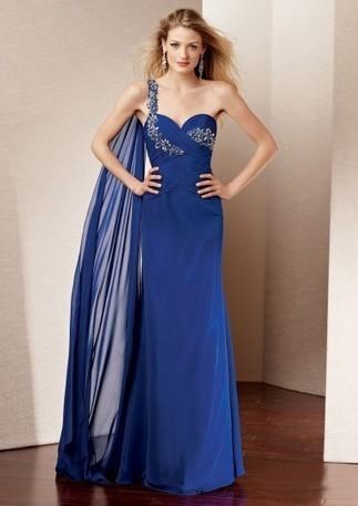 One-shoulder Sweetheart Floor-length Chiffon Prom Dresses - Happidress | Fashion Dresses | Scoop.it