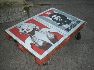 TABLE BASSE Marilyn & Che | Pas à Pas DIY | Le coin des bricoleurs | Best of coin des bricoleurs | Scoop.it