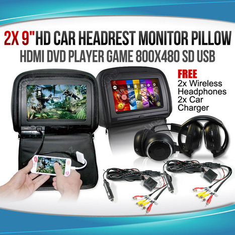The Best Headrest HDMI DVD Player for Avid Gamers | car DVD Player | Scoop.it