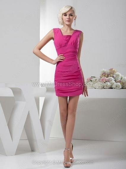 Sheath/Column Square Chiffon Short/Mini Beading Cocktail Dresses | Cocktail dresses online | Scoop.it