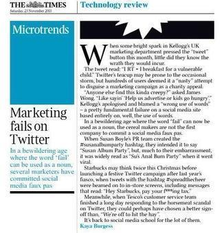 Twitter / i2ipr: Good article on marketing fails ...   Public Relations and Social Media   Scoop.it