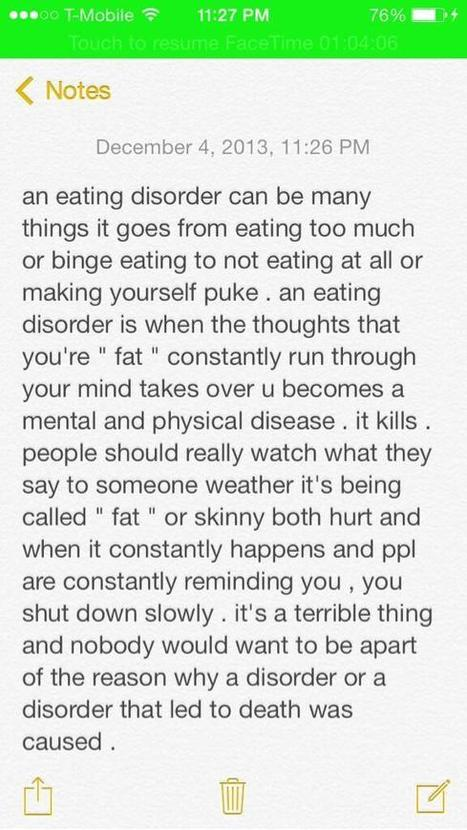 Twitter / BVNDWHORE: eating disorders . my prospective ... | Eating Disorders In Women | Scoop.it