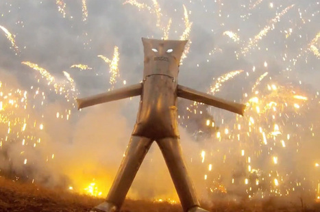 A Protective Suit That Lets You Stand Inside A Fireworks Display | Strange days indeed... | Scoop.it