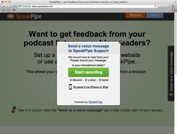 SpeakPipe - receive voice messages from your audience directly on your website. | Moodle and Web 2.0 | Scoop.it