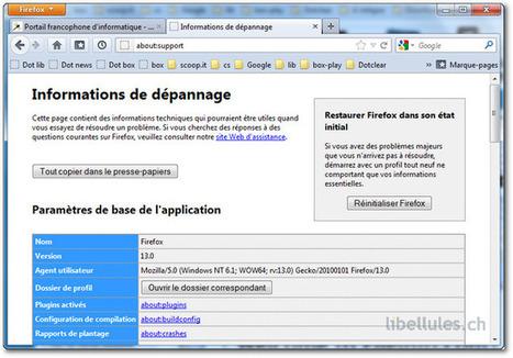 Réinitialiser Firefox 13 | Time to Learn | Scoop.it