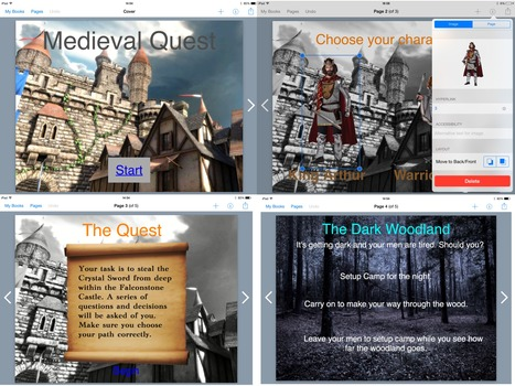 Inspiring Writing using Adventure Game Creation with Book Creator App - Sept 2014 Blog Post | iTeach | Scoop.it