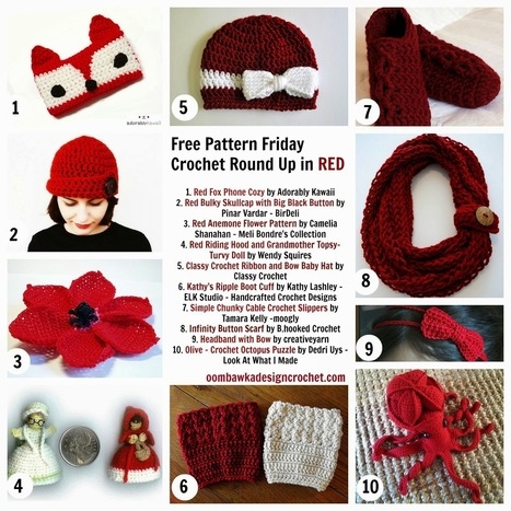 Oombawka Design *Crochet*: Free Crochet Pattern Friday - The Colour Red | CrochetHappy | Scoop.it