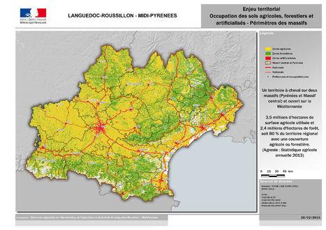 Découvrez les cartes de la future grande région Languedoc-Roussillon et Midi-Pyrénées - DRAAF LANGUEDOC-ROUSSILLON | Economie agricole de Midi-Pyrénées | Scoop.it