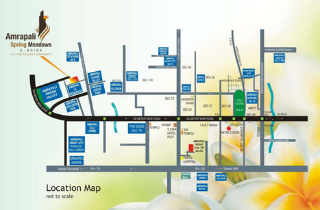 Amrapali Spring Meadows Location Map | Property in Noida | Scoop.it