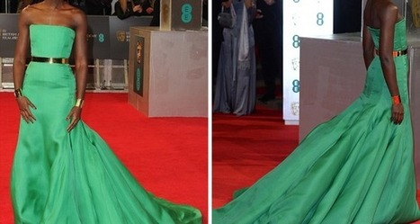 Lupita Nyong'o Stuns In Emerald Green Silk Gown At The 2014 BAFTAs | AfroCosmopolitan | Fashion | Scoop.it