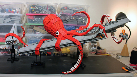 Lego Giant Kraken Destroys Darth Vader's Super Star Destroyer | All Geeks | Scoop.it