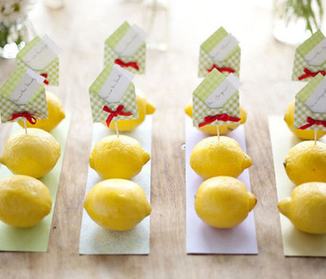 Lemon Love - DIY Wedding Ideas for Small and Intimate Weddings - Real Small Weddings | Your wedding in France... | Scoop.it
