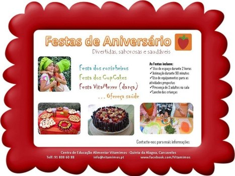 FESTAS DE ANIVERSÁRIO É NA VITAMIMOS! | VITAMIMOS | Scoop.it
