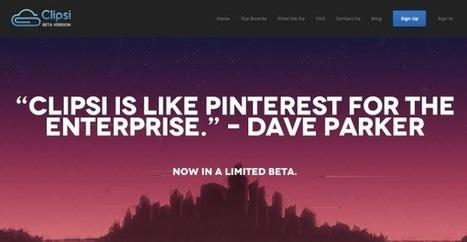 Clipsi, el Pinterest para la curación de contenidos web del sector empresarial | Pinterest | Scoop.it
