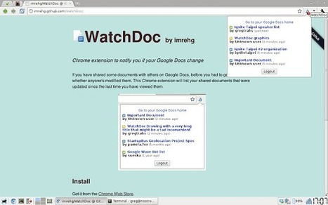 WatchDoc : Notifies you if your Google Docs change | formation 2.0 | Scoop.it