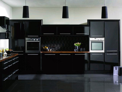 black kitchen cabinets | Kitchen Remodeling | Scoop.it