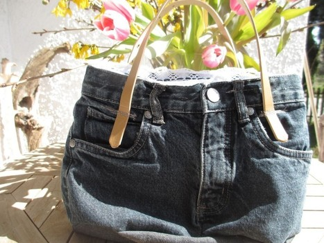 Upcycled Jeans: kleine Tote Bag | Nähen | Scoop.it
