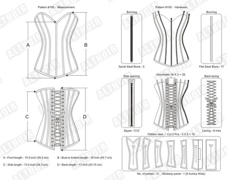 Printed overbust corsets for women | Corsets | Scoop.it