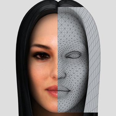 Monica Bellucci 3d face | 3D Library | Scoop.it