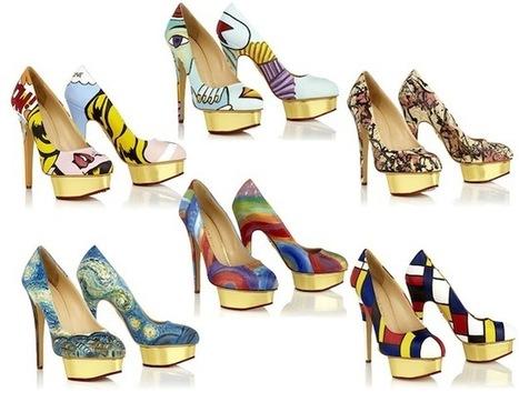 Famous Artworks Hand-Painted Onto Neiman Marcus Stilettos  via @PSFK | Fashion Technology Designers & Startups | Scoop.it