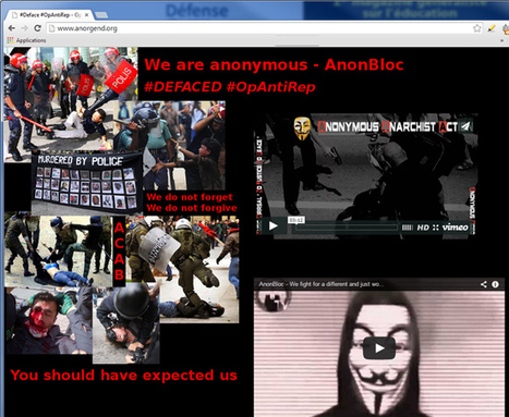 OpAntiRep : Anonymous s'attaque à la gendarmerie française | Libertés Numériques | Scoop.it