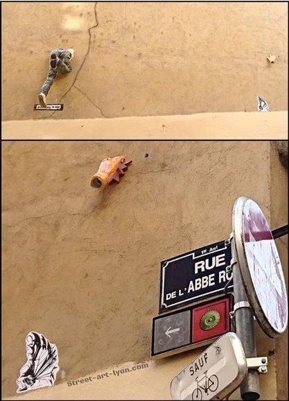 Tweet from @streetartLyon   street art Lyon   Scoop.it