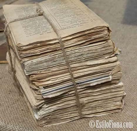 Decoración con libros vintage - EstiloFiona   Documentos antiguos   Scoop.it