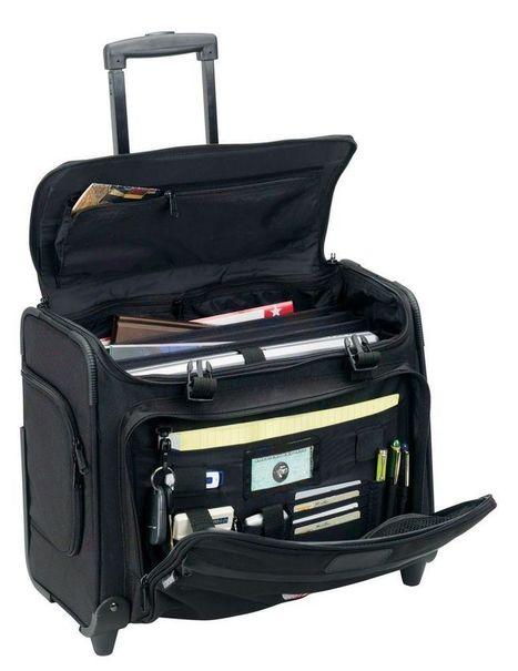 "Rolling 2-Wheels 17"" Laptop Computer Business Organizer Case Bag Black | Marcs College Backpack Ideas | Scoop.it"