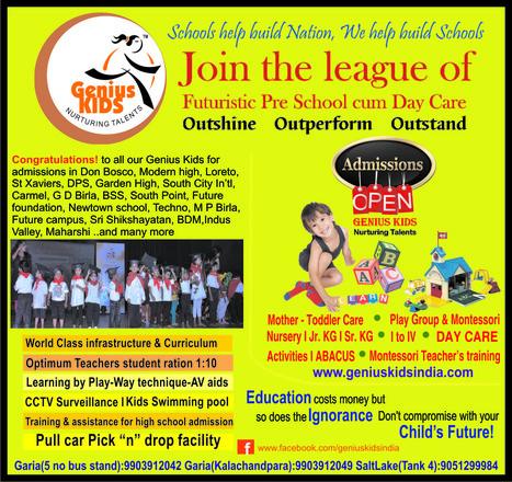 Admissions open 2015-16 @ Kindergarten school in kolkata | Kids Creche in Kolkata | Scoop.it