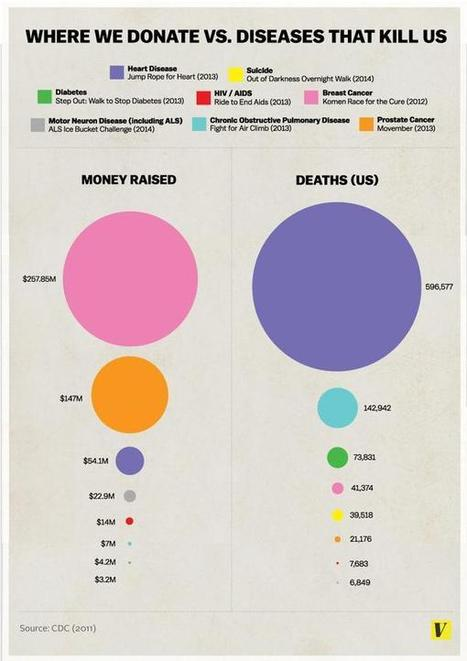 Infographic Shows The Differences Between The Diseases We Donate To, And The Diseases That Kill Us | IFLScience | Data Head | Scoop.it
