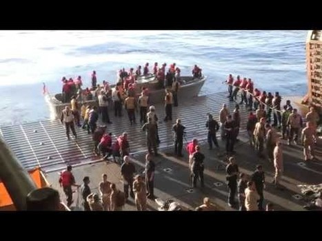 Military Videos of the World - US Navy Ships Bataan and Elrod Rescue 282 Persons from Sinking Vessel in Mediterranean Sea   Military Videos   Scoop.it