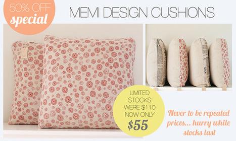 Cushion Spot: Memi design cushion 50% off sale | Designer Cushions | Scoop.it