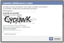 Supprimer un compte Facebook   web   Scoop.it
