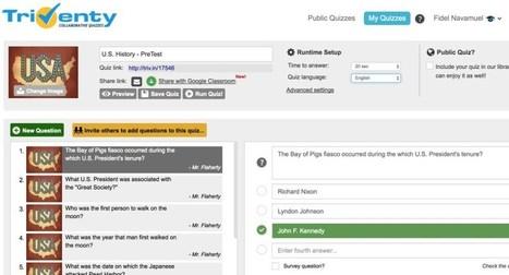 Triventy. Des quiz interactifs pour apprendre en jouant – Les Outils Tice | Les outils du Web 2.0 | Scoop.it
