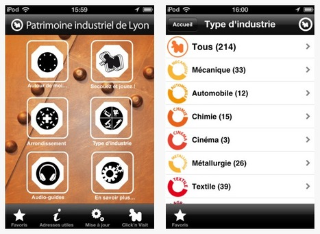 Internet mobile : le patrimoine industriel de Lyon valorisé sur smartphone par la Région Rhône-Alpes | Astuces numériques des pros du tourisme du Rhône | Scoop.it