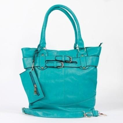 Grand sac femme rouge ou bleu turquoise à boucles argentées   Accessoires de mode femme   Scoop.it