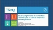 Leveraging Natural User Interface Technologies to Deliver Improved User Experience (Channel 9) | Owen's Natural User Interface Info | Scoop.it