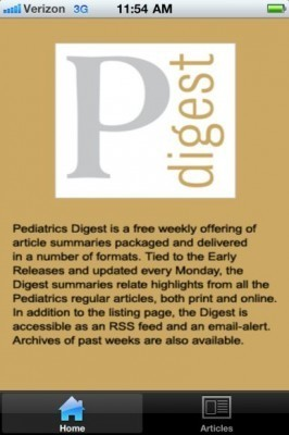 Pediatric Digest is a great app for staying up to date, bringing Pediatrics journal to the iPhone | Medical Apps | Scoop.it