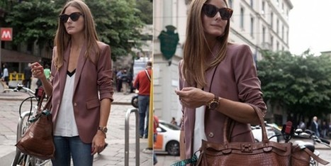 Lo stile di Olivia Palermo? Giacca, jeans e borsa Zagliani | fashion and runway - sfilate e moda | Scoop.it