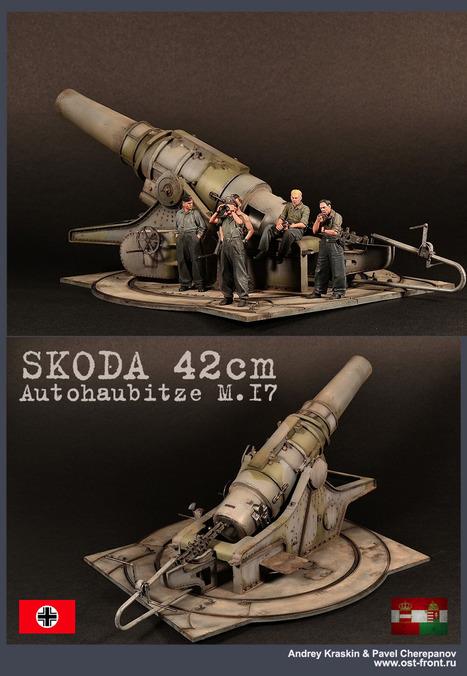 Škoda 42cm Autohaubitze M.17 | Military Miniatures H.Q. | Scoop.it