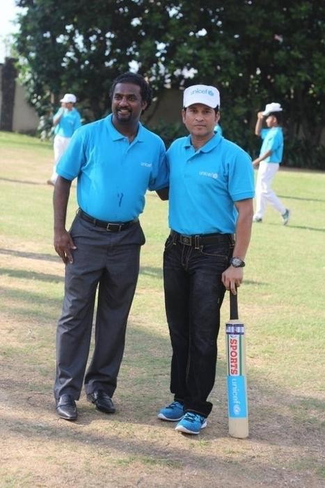 (Photos) Tendulkar and Muralitharan at a UNICEF event in Sri Lanka | Sri Lanka Cricket | Scoop.it